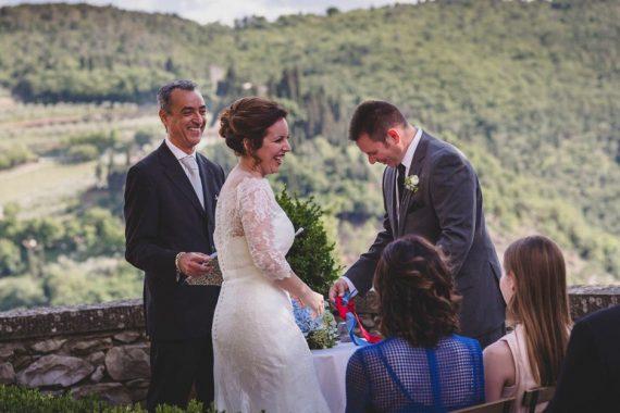 Fun wedding officiant Italy