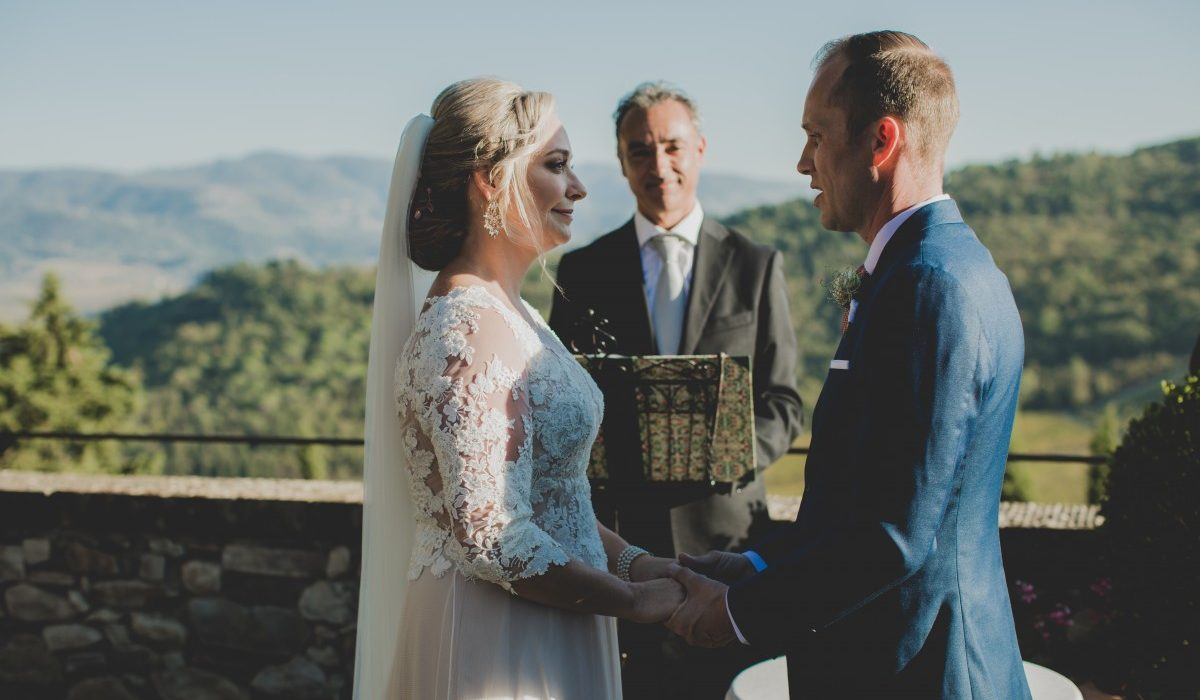 wedding officiant tuscany